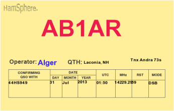 QSL- Received426